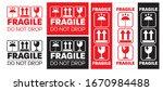 fragile  do not drop stickers...   Shutterstock .eps vector #1670984488