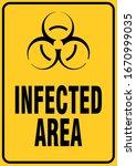 infected area medical danger... | Shutterstock .eps vector #1670999035