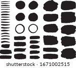 a set of black paint brush... | Shutterstock .eps vector #1671002515