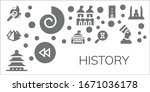 history icon set. 11 filled...   Shutterstock .eps vector #1671036178