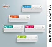 white rectangles on the grey... | Shutterstock .eps vector #167104568