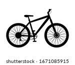 silhouette mountain bike....   Shutterstock .eps vector #1671085915