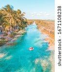 Girl Navigating Bacalar Lagoon  ...