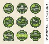 set premium organic product... | Shutterstock .eps vector #1671112075