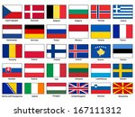 flags of europe vector set | Shutterstock .eps vector #167111312