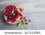 Juicy Pomegranate Fruit Over...