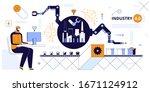 production line vector... | Shutterstock .eps vector #1671124912
