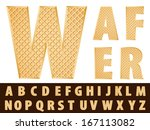 vector wafer alphabet  | Shutterstock .eps vector #167113082