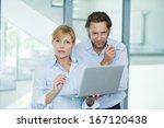 businessmen working with laptop ... | Shutterstock . vector #167120438