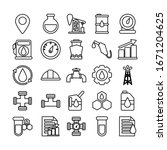 set of icons oil   line style... | Shutterstock .eps vector #1671204625