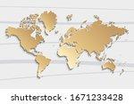 world map paper. political map... | Shutterstock .eps vector #1671233428