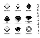 diamonds  5  | Shutterstock .eps vector #167125562