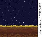 pixel art game night background....