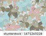 vector floral seamless pattern. ...   Shutterstock .eps vector #1671265228