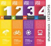 four steps for infographics... | Shutterstock .eps vector #167126936