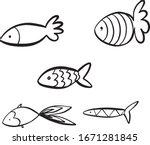 vector black and white hand...   Shutterstock .eps vector #1671281845