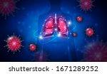 pneumonia caused by coronavirus ... | Shutterstock .eps vector #1671289252