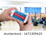 hand holds smartphone with... | Shutterstock . vector #1671309625
