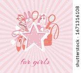 girls accessories fashion...   Shutterstock .eps vector #1671316108