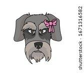 cute cartoon schnauzer dog with ...   Shutterstock .eps vector #1671316582