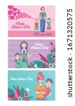 happy mothers day card with... | Shutterstock .eps vector #1671320575