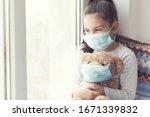 Cute Child Girl With Teddy Bear ...