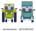 funny people driving cars... | Shutterstock .eps vector #1671345265