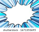 comic speech bubble and blue... | Shutterstock .eps vector #1671353695
