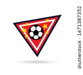 soccer logo or football club... | Shutterstock .eps vector #1671387352