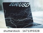 creative concept of euro usd...
