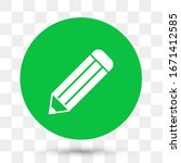 pencil icon in trendy flat style