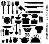 cooking icons set | Shutterstock .eps vector #167141288