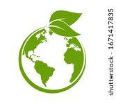 green earth  green leaf art....   Shutterstock .eps vector #1671417835
