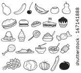 food doodle | Shutterstock .eps vector #167141888