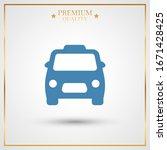 taxi icon vector. simple symbol.