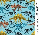 vector seamless pattern of... | Shutterstock .eps vector #1671444325