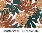 brown seamless pattern of... | Shutterstock .eps vector #1671450382