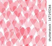 Watercolor Hearts Seamless...