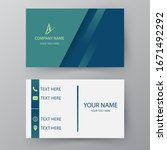 modern presentation card.... | Shutterstock .eps vector #1671492292