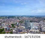 aerial view of frankfurt am... | Shutterstock . vector #167151536