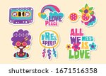Colorful Retro Hippie Patches...