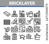 bricklayer industry collection...   Shutterstock .eps vector #1671544075