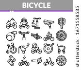 bicycle bike details collection ...   Shutterstock .eps vector #1671558535