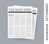 vector mock up of a blank daily ... | Shutterstock .eps vector #1671568465