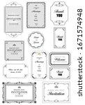 set of ornate vector frames and ... | Shutterstock .eps vector #1671574948