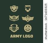 army logo design vector template | Shutterstock .eps vector #1671603325