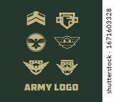 army logo design vector template   Shutterstock .eps vector #1671603328