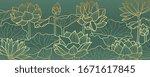 lotus line arts luxury... | Shutterstock .eps vector #1671617845