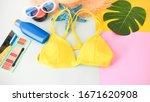 fashion summer girl cosmetics ... | Shutterstock . vector #1671620908