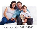 happy family portrait  father ... | Shutterstock . vector #167163146